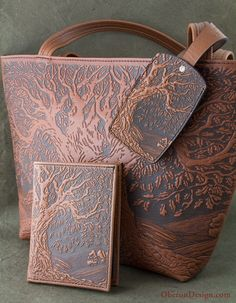 Tree of Life passport Wallet with matching Luggage Tag and Handbag from Oberon Design http://oberondesign.com/oberon-accessories/passport-wallets.html