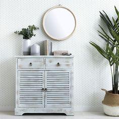 Un recibidor moderno con aire vintage de Kenay Home --> Ve a este tablero para descubrir decenas de pins asombrosos similares a éste. Color Menta, Sweet Home, Vanity, Cabinet, Interior Design, Storage, Furniture, Vintage, Home Decor