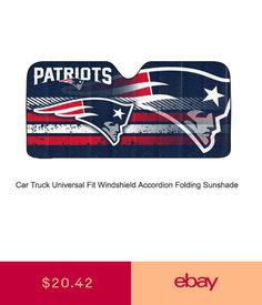 53ea398a3 NFL New England Patriots Car Truck Front Windshield Accordion SunShade  Large Sz
