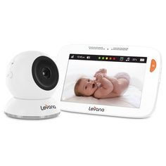 """Levana Shiloh 5"""" HD Touchscreen High Definition Video Baby Monitor, White"""