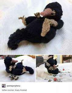 Crochet niffler by qwertyprophecy.tu Crochet niffler by qwertyprophecy.tu… Crochet niffler by qwertyprophecy.tu Crochet niffler by qwertyprophecy.tu… Crochet niffler by qwertyprophecy.tu Crochet niffler by qwertyprophecy. Crochet Crafts, Crochet Dolls, Yarn Crafts, Crochet Projects, Knit Crochet, Amigurumi Patterns, Knitting Patterns, Crochet Patterns, Diy Deodorant