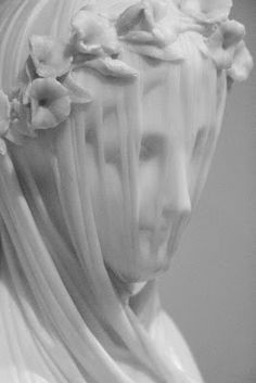 his veiled lady bust by Raffaelo Monti amazed us all. She is marble - even her veil. C ached to touch it. Aesthetic Statue, Stone Sculpture, Renaissance Art, White Aesthetic, Art And Architecture, Art Inspo, Art History, Amazing Art, Sculpting