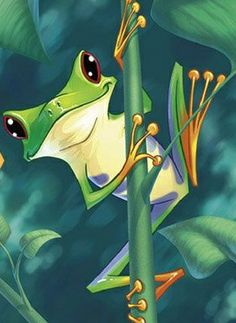 aquí ando croando¡¡¡¡¡ Silly Animal Pictures, Frog Pictures, Animal Paintings, Animal Drawings, Frog Template, Frog Coloring Pages, Frog Drawing, Cute Animal Illustration, Frog Art