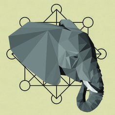 TrianglElephant - Vector Graphics on Creattica: Your source for design inspiration