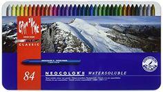 Caran d'Ache Classic Neocolor II Water-Soluble Pastels, 84 Colors