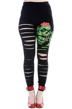 Banned Zombie Brain Slash Leggings