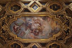 basilica of san clemente | Ceiling of Basilica San Clemente, Rome.