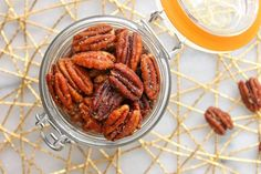 These Honey Roasted Pecans use simple ingredients and take less than 20 minutes to roast! Honey Roasted Pecans, Honey Candy, Pecan Recipes, Recipe Boards, Holiday Baking, Blackberry, Dinner Recipes, Favorite Recipes, Babe