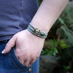 Nautical Bracelet - Mens Anchor Bracelet - Anchor Bracelet - Anchor - Nautical Bracelets - Summer Fashion  Anchor Paracord Nautical Bracelet in
