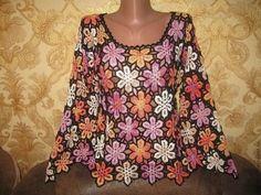 Çiçek Motifli Tığ İşi Bayan Bluz - http://m-visible.com/cicek-motifli-tig-isi-bayan-bluz.html