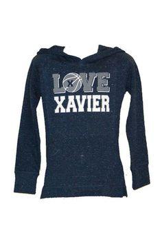 Xavier Girls Navy Blue Scout Hooded Sweatshirt
