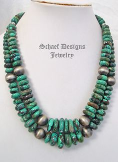 Schaef Designs Picture Large disk & sterling silver Navajo Pearls southwestern necklaces | New Mexico