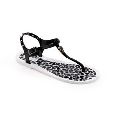 Chiara Bellini: Pvc Thong Sandal With Leopard Pattern Insole
