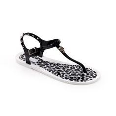 Chiara Bellini: Pvc Thong Sandal With Leopard Pattern Insole
