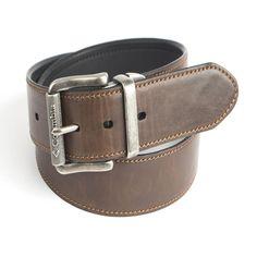 Men's Columbia Roller Logo Buckle Reversible Belt, Size: 40, Grey (Charcoal)