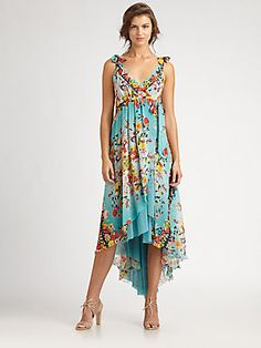 Fuzzi Silk Hi-Lo Maxi Dress...Can't rationalize this one to my husband! But oh........what a dress!!
