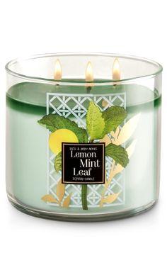 Lemon Mint Leaf 3-Wick Candle   - Home Fragrance 1037181 - Bath & Body Works