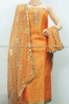 Copy of Beautiful Chanderi Cotton Unstitched Suit fabric