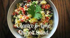 Organic Cilantro & Lime Quinoa Salad (Vegan)