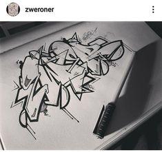 #zweroner #art #calligraphie #paper #alphabet Alphabet, Art Deco, Peace, Tattoos, Calligraphy, Tatuajes, Alpha Bet, Tattoo, Sobriety