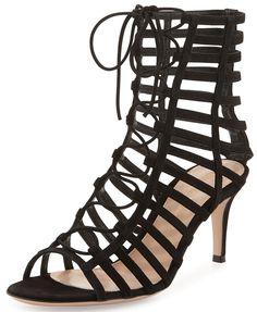 6a4b73ca5 Gianvito Rossi Roxy Lace-Up Gladiator Sandal