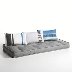coussin matelas de sol banquette serge gris 60x120x15 79. Black Bedroom Furniture Sets. Home Design Ideas