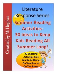 Tired of trying to find ways to keep your students reading during summer vacation? Now you don't have to with the great summer reading kit. With a variety of fresh new ways to get kids to read, you are sure to have a fantastic break! ($)
