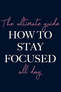 Are you having struggles to focus for more than five minutes? You don't have any motivation?Here are five effective tips on how to stay focused.