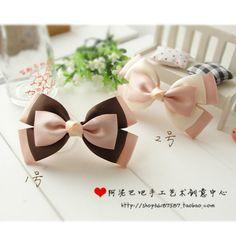 Pink, Brown & White Bow tie - Moños rosa, café y blanco
