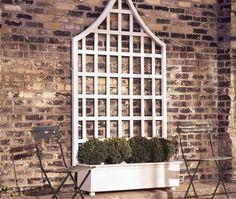 DIY Garden Trellis very sturdy and elegant, costs, materials and tools list… Small Backyard Gardens, Backyard Garden Design, Diy Garden, Shade Garden, Outdoor Gardens, Small Terrace, Garden Kids, Modern Backyard, Large Backyard