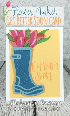 Flower Market Get Better Soon card
