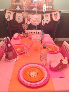 Daniel tigers neighborhood party. Pink and orange birthday
