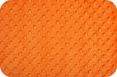 ORANGE MINKY DOT / Cuddle Dimple Fabric by by MojoFabricsandQuilts, $12.95