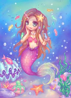 Mermaid Commission by miss-octopie on deviantART