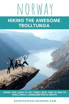 The Amazing Trolltunga Hike in Norway - The Hike to Trolltunga in Norway is one of the most beautiful places I have ever been. A fun hike, a stunning view and great photo opportunities! One of my favourite hikes ever! This hike to Trolltunga, Norway has stayed with me since I made it a couple of years ago.Includes how to get to Trolltunga plus tips for the hike and getting the best photos #norway #hiking #hike #trolltunga #hikingtrails Hiking Europe, Europe Travel Guide, Travel Guides, Travel Destinations, Travelling Europe, European Destination, European Travel, Norway Travel, Hiking Norway