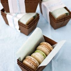 More great macaron and packaging colors