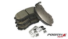 POSITIVE PLUS CERAMIC BRAKE PADS: Advanced rubber shims technology to reduce vibrationand brake noise.