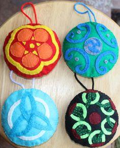 Hand Sewn Felt Christmas Ornaments: Celtic by hilarycreations