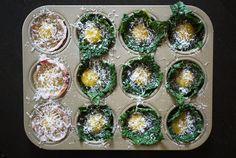 Baked Egg and Kale Cups | One Hungry Mama