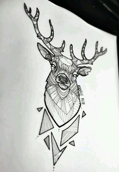 Deer minimal geometric draw