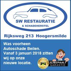 Advertentie op Koopplein Midden-Drenthe aangepast voor SW Restauratie & Schadeherstel. SW Restauratie & Schadeherstel was voorheen Autoschade Beilen en is verhuisd van Beilen naar de Rijksweg 213 in Hoogersmilde. Zij blijven aangesloten bij JIJBEPAALT.NL! Heel veel succes op jullie nieuwe locatie!