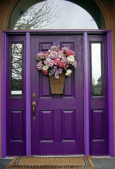 This bold purple door is a reminder of spring all year 'round.