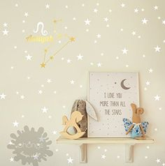 Zodiac star  custom name wall decal  Kids Wall Decal  Home Decor  baby name  star sign  custom name  zodiac  zodica decor  gift *** Details can be found by clicking on the image.