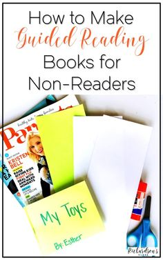Do you get stuck with your non-readers during guided reading? See how this teacher makes guided reading books with her students and uses them with non-readers. Perfect for guided reading in kindergarten, too!