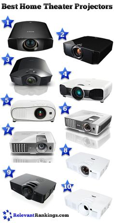 Reviews of the best home theater projectors as rated by relevantrankings.com  Last updated on 6/11/2015