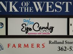 Exterior Business Sign for 20/20 Eye Candy - http://creativesurfacesblog.com/index.php/exterior-business-sign-for-2020-eye-candy/