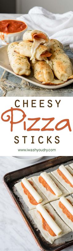 Super easy Cheesy Pepperoni Pizza Sticks! Just 6 ingredients and my kids totally loved them!