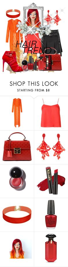 """""""Untitled #4123"""" by princhelle-mack ❤ liked on Polyvore featuring beauty, Tak.Ori, T By Alexander Wang, ShoeDazzle, Gucci, Oscar de la Renta, Vanessa Mooney, OPI, Victoria's Secret and NYX"""