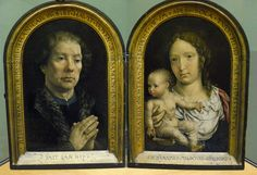 Jan Gossaet (Mabuse; 1479-1541). The Carondelet Diptych, 1517 Oil on oak panel -  Louvre Museum