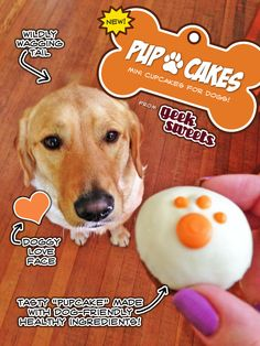 Geek Sweets new Pupcakes - Cupcakes for dogs! Available at the Vancouver Farmer's Markets, or by custom order (jenny@geeksweets.net)